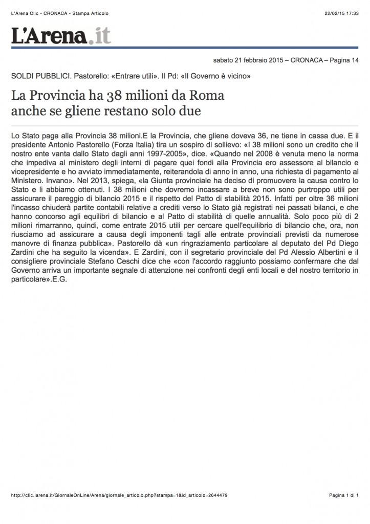 *38 milioni provincia